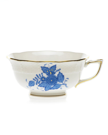 Blue Chinese Bouquet Teacup
