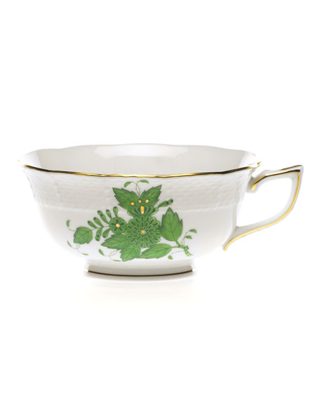 Green Chinese Bouquet Teacup