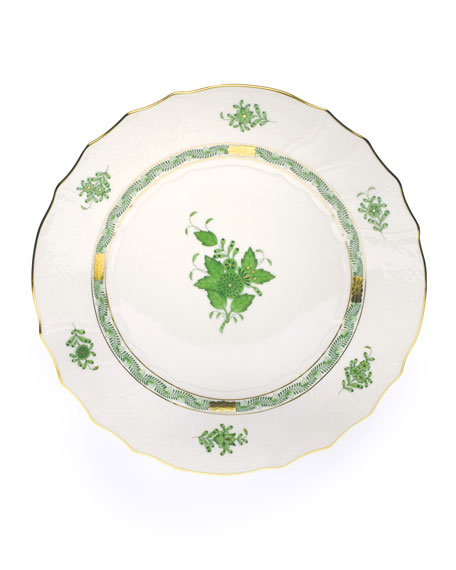 Green Chinese Bouquet Dinner Plate
