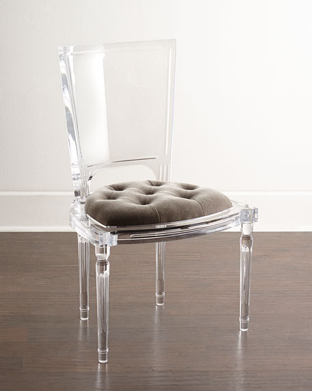 Image 1 of 3: Global Views Katherine Acrylic Side Chair