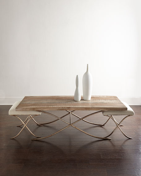 Neimanmarcus Kye Coffee Table with Two Stools