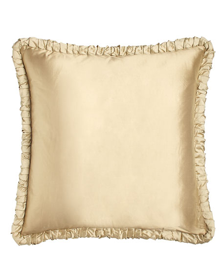 Austin Horn Collection Reversible European Sham with Ruched Welt