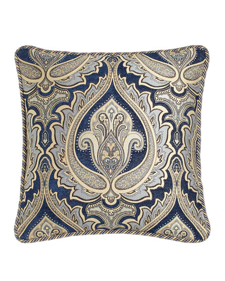 """Austin Horn Collection 20""""Sq. Reversible Pillow with Cord Trim"""
