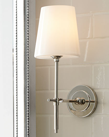visual comfort bryant sconce with glass shade neiman marcus