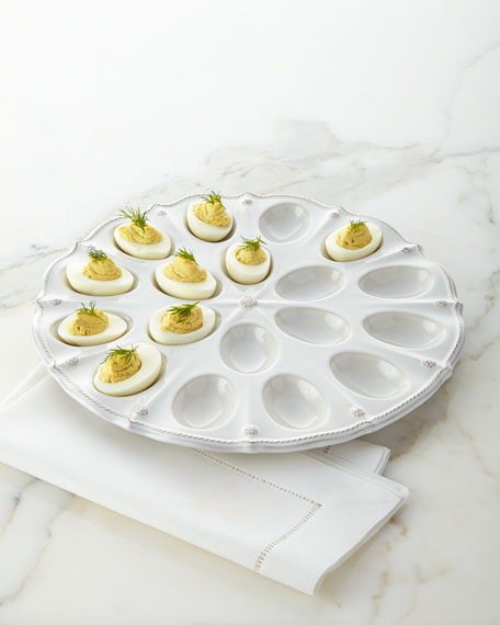 juliska berry thread deviled egg platter neiman