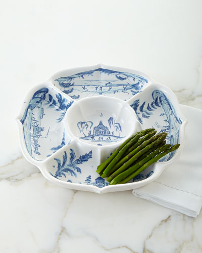 Country Estate Delft Blue Hors D