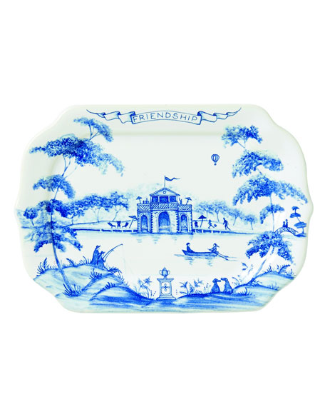 Juliska Country Estate Delft Blue Friendship Gift Tray