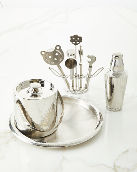 Godinger Hammered Bar Set with Tools