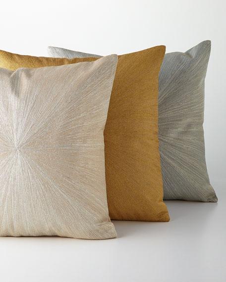 "Metallic Nimbus Pillow, 20""Sq."