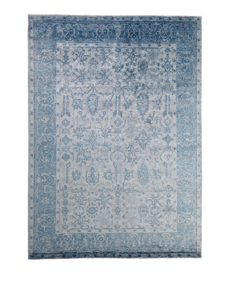 Exquisite Rugs Sweet Blues Hand-Knotted Rug, 10' x 14'