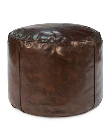 Jozy Leather Pouf