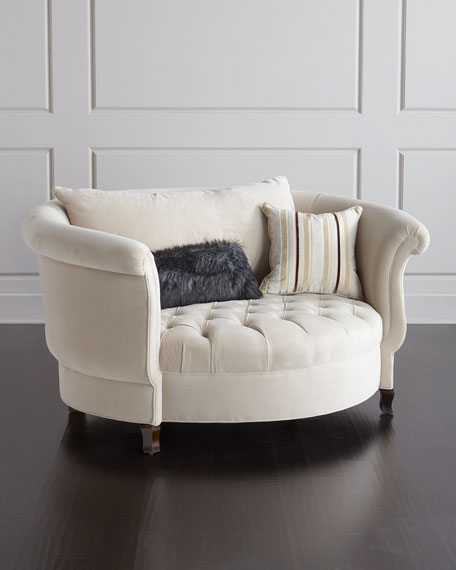 Top Haute House Harlow Ivory Cuddle Chair | Neiman Marcus OD99