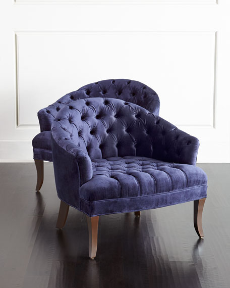 Image 2 of 4: Haute House Ariana Tufted Chair
