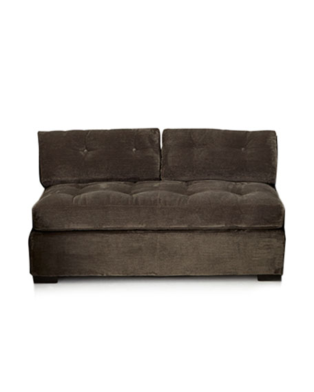 Old Hickory Tannery McLain Gray Armless Sofa