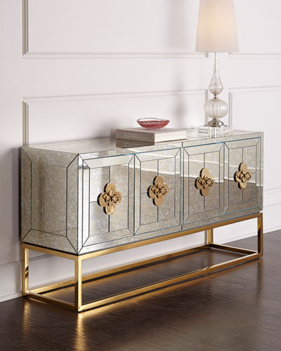 mirrored furniture : coffee & side tables and cabinets at neiman