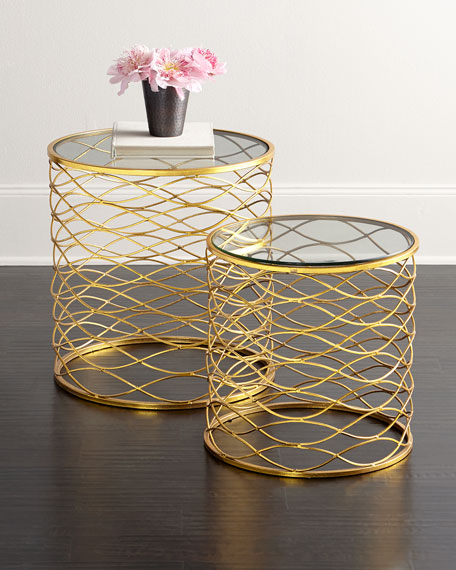 Neimanmarcus Breslow Side Tables, 2-Piece Set