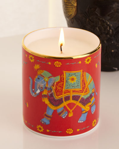 Ceremonial Elephant Red Candle