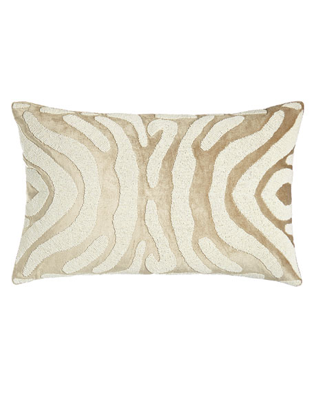 "Zebra-Stripe Pillow, 14"" x 22"""