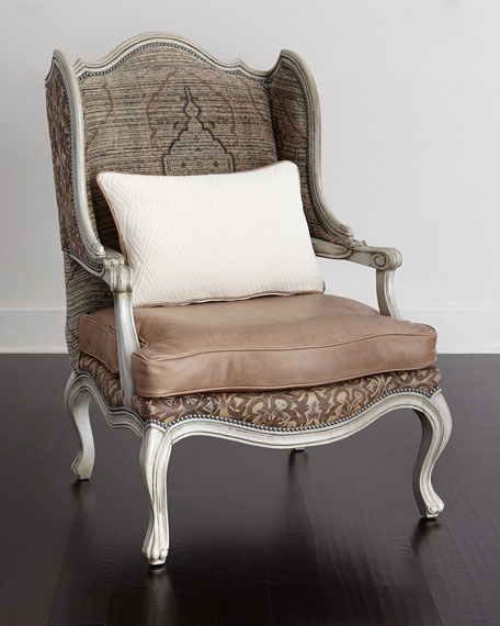 Brenna Leather Wing Chair