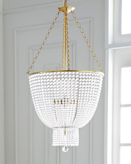 Aerin jacqueline four light chandelier for Aerin lauder visual comfort