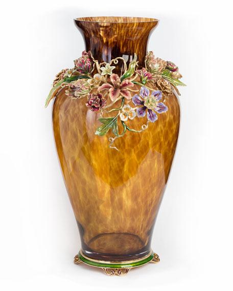 Dutch Floral Vase