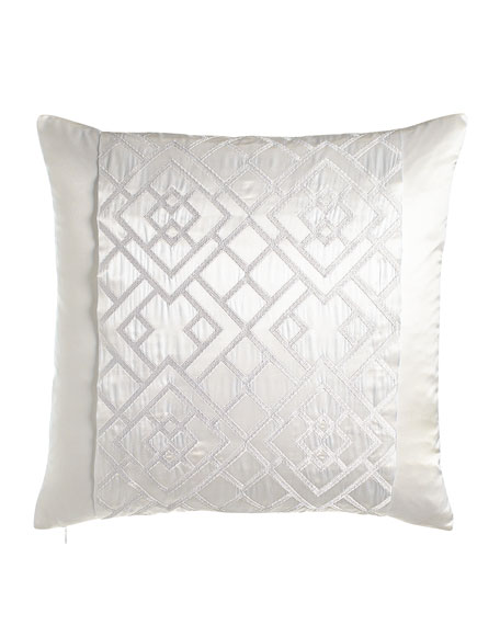"Tsuba Geo Pillow, 20""Sq."