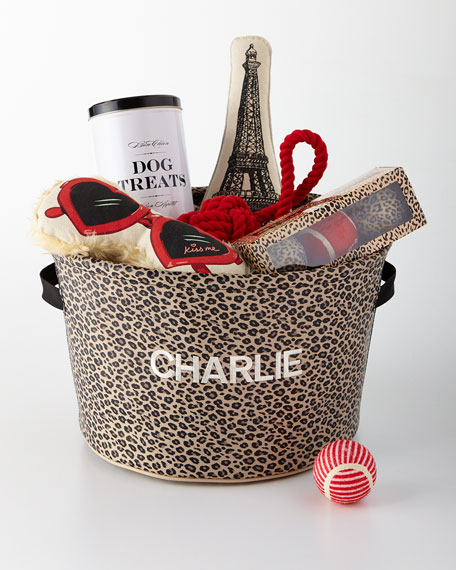 Harry Barker Parisian Leopard Toy Bin
