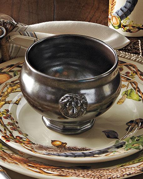 Juliska Pewter Stoneware Footed Soup Bowl