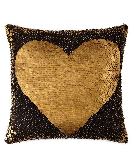 Jonathan Adler Black Heart Pillow