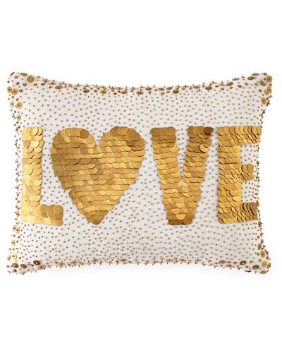 White Love Pillow