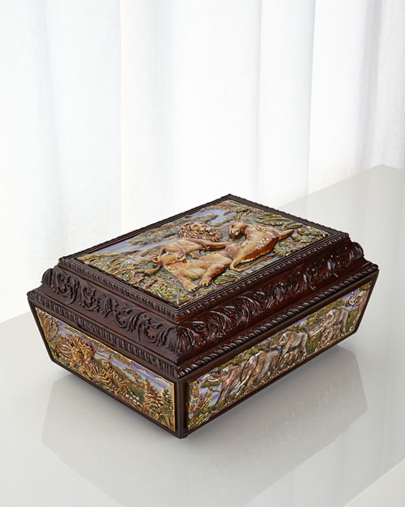 Jay Strongwater Jungle Scene Chest