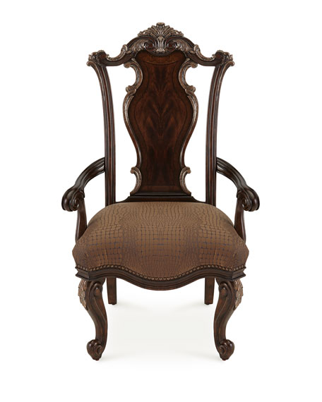 Maxwell Wood-Back Armchairs, Pair