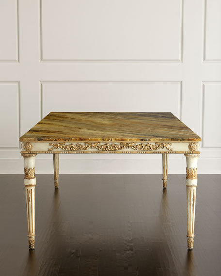 John-Richard Collection Annabelle Dining Table & Valerie Velvet