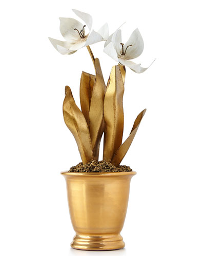 Gilded Potted Tulip
