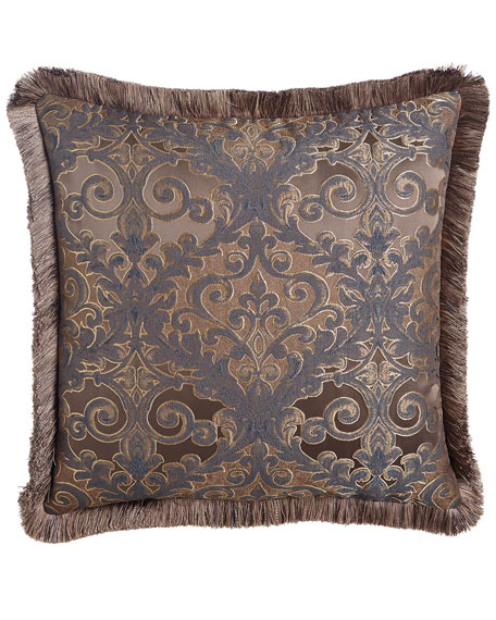 Dian Austin Couture Home European Marilyn Damask Sham with Fringe