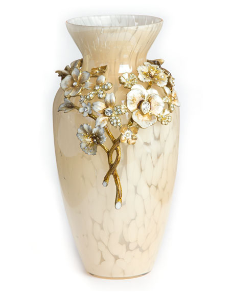 Jay Strongwater Ivory Bouquet Vase