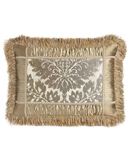 """Austin Horn Collection Vienna Pieced Pillow, 14"""" x 21"""""""