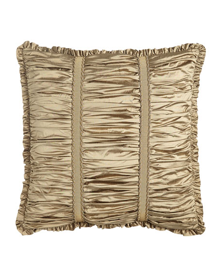 Austin Horn Collection Vienna Ruched Silk European Sham