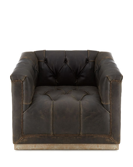 Charles Leather Swivel Chair