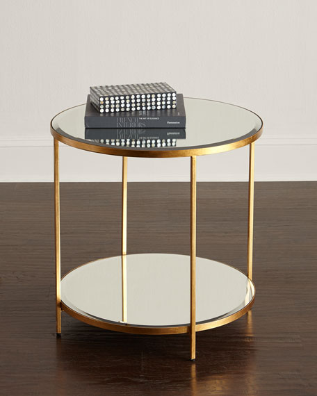 Interlude Home Nolan 2 Tiered Side Table Neiman Marcus