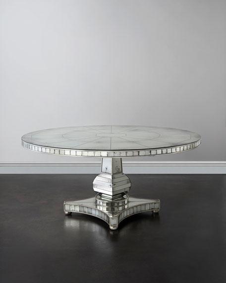 John-Richard Collection Tonya Mirrored Dining Table