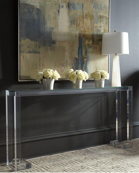 Interlude Home Naomi Acrylic Console Table