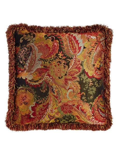 Austin Horn Collection Royale Reversible Ogee/Floral European Sham