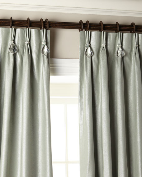 "Image 3 of 5: Misti Thomas Modern Luxuries 108""L Shimmer Curtain with Asfour Crystals"