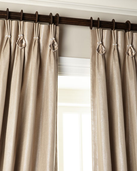 "Image 5 of 5: Misti Thomas Modern Luxuries 108""L Shimmer Curtain with Asfour Crystals"
