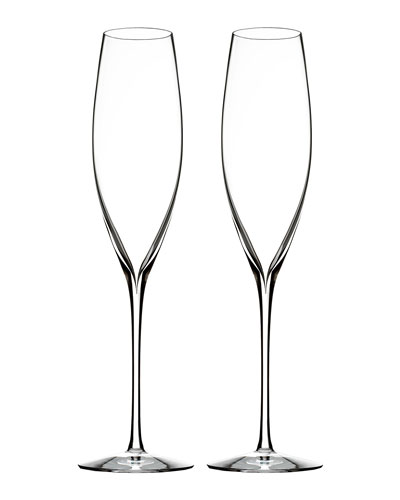 Elegance Champagne Flutes, Set of 2