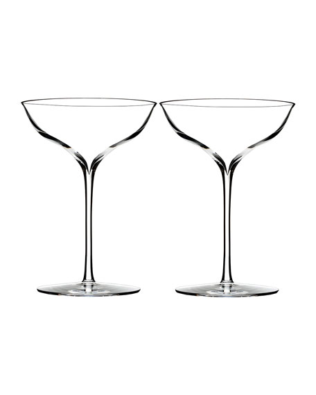 Image 1 of 2: Waterford Crystal Elegance Champagne Coupe, Set of 2