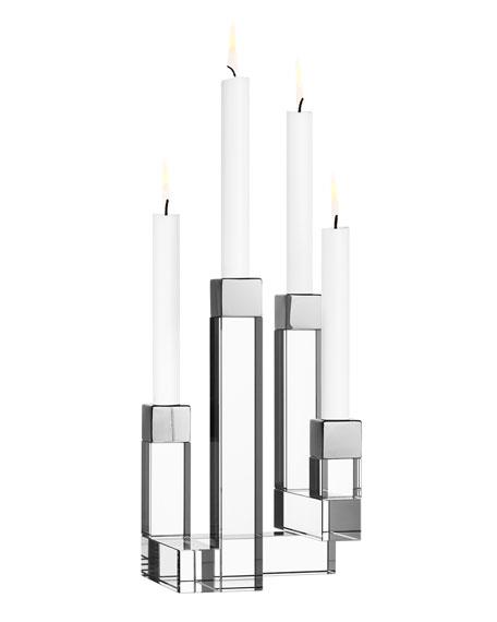 Orrefors Chimney Four-Arm Candleholder