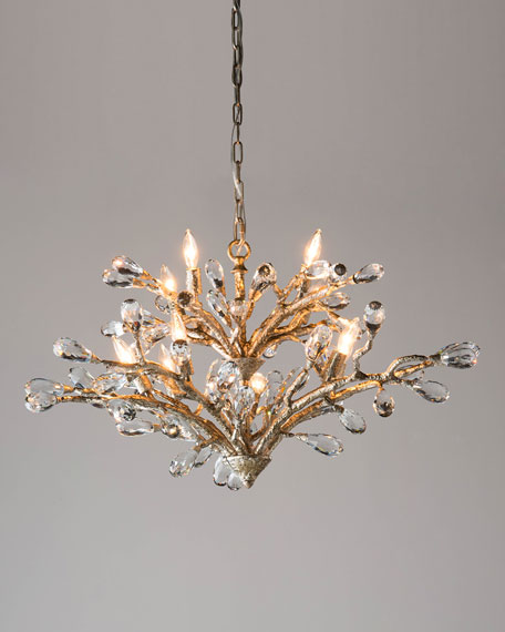 John-Richard Collection Budding Crystal 10-Light Chandelier