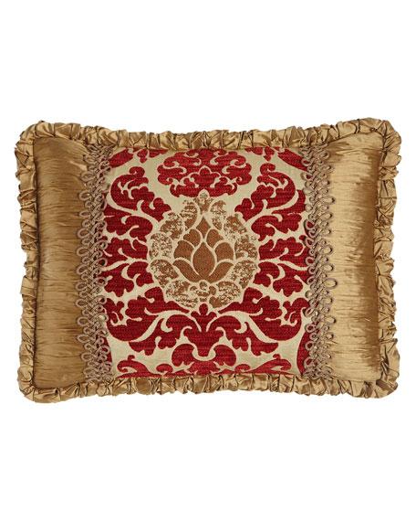 """Austin Horn Collection Arabesque Pieced Pillow, 14"""" x 21"""""""